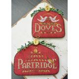 Hands On Design Stickvorlage 12 Days Partridge & Doves