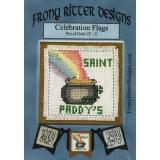 Frony Ritter Designs Stickvorlage Celebration Flags Pot of Gold