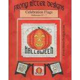 Frony Ritter Designs Stickvorlage Celebration Flags Halloween