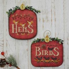 Stickvorlage Hands On Design 12 Days Hens & Birds