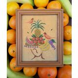 Tropical Hat Lady - Stickvorlage Carriage House Samplings