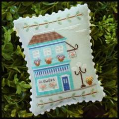 Country Cottage Needleworks Stickvorlage Main Street Flower Shop