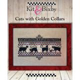 Kit & Bixby Stickvorlage Cats With Golden Collars
