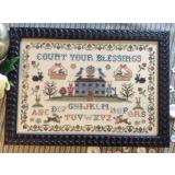 Annie Beez Folk Art Stickvorlage Count Your Blessings