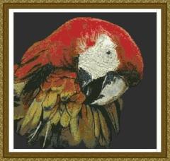 Macaw (Papageien) - Kreuzstichvorlage Kustom Krafts