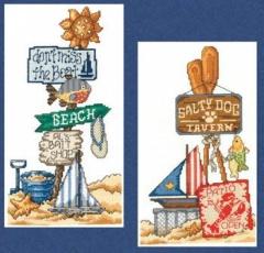 Imaginating Stickvorlage Beach Signs I