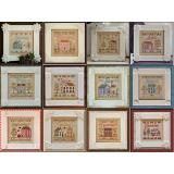 Country Cottage Needleworks 12 Stickvorlagen Serie Cottage Of The Month