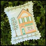 Country Cottage Needleworks Stickvorlage Main Street Coffee Shop