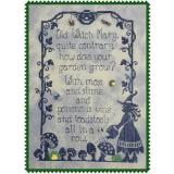 Old Witch Mary - Stickvorlage Waxing Moon