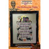 On Halloween Night - Kreuzstichvorlage Kit & Bixby