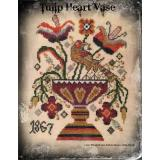 Tulip Heart Vase - Stickvorlage Dames of the Needle