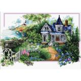 Needleart World Stickpackung 740-068 Haus im Sommer 59x39