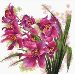 Needleart World Stickpackung 640-070 Orchideen 39x39
