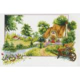 Needleart World Stickpackung 640-046 Haus im Sommer 46x31