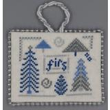 Misty Hill Studio Stickvorlage Blue & Silver Christmas Firs