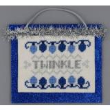Misty Hill Studio Stickvorlage Blue & Silver Christmas Twinkle