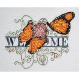 Monarch Butterfly Welcome - Kreuzstichvorlage MarNic Designs