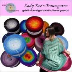 Lady Dee´s Traumgarne gehäkelt und gestrickt in Szene gesetzt - Strickbuch Topp / Frechverlag
