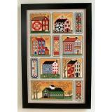 Annie Beez Folk Art Stickvorlage Quilty Neighborhood