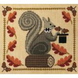 Artful Offerings Stickvorlage Squirrely Acorn Banquet
