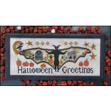 Halloween Greetings - Stickvorlage Kathy Barrick