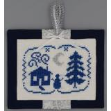 Misty Hill Studio Stickvorlage Blue & Silver Christmas Night