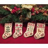 Christmas Stocking Ornaments - Stickvorlage Scissor Tail Designs