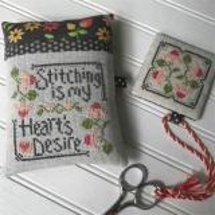 Stitching Is My Hearts Desire - Stickvorlage Hands On Design