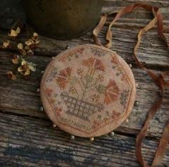 Quaker Carnations Pinwheel - Kreuzstichvorlage Threadwork Primitives