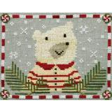 Artful Offerings Stickvorlage Peppermint Polar Bear