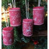 Mini Drum Christmas Ornaments - Stickvorlage Dames of the Needle