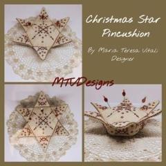 Christmas Star Pincushion - Stickvorlage MTV Designs