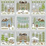 Frosty Forest komplette Serie - 9 Stickvorlagen Country Cottage Needleworks