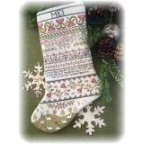 Kreuzstichvorlage Annie Beez - Band Sampler Stocking