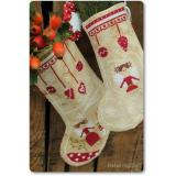 Madame Chantilly Stickvorlage Angels Christmas Stocking
