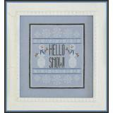 Hello Snow - Stickvorlage Country Cottage Needleworks