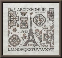 Jardin Privé Stickvorlage Eiffel Quaker