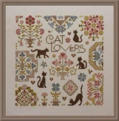 Kreuzstichvorlage Jardin Privé - Cat Lovers