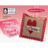 Merry Making Mini - Floral Heart (w/embellishments) - Kreuzstichvorlage Heart In Hand