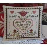 Primitive Heart - Kreuzstichvorlage Abby Rose Designs