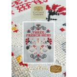 Cottage Garden Samplings Stickvorlage 12 Days of Christmas Three French Hens