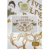 Stickvorlage Cottage Garden Samplings 12 Days of Christmas Five Golden Rings