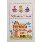 Kreuzstichvorlage Cottage Garden Samplings - Cupcake Cottage