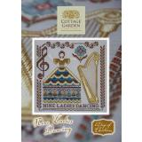 Stickvorlage Cottage Garden Samplings 12 Days of Christmas Nine Ladies Dancing