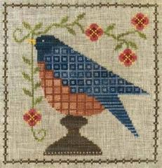 Artful Offerings Stickvorlage Bluebird Garden