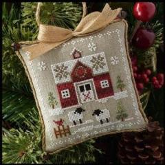 Farmhouse Christmas 1 - LittleRed Barn - Kreuzstichvorlage Little House Needleworks