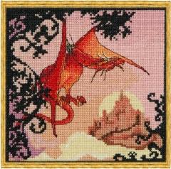 Dragon Rouge - Stickvorlage Nimuë