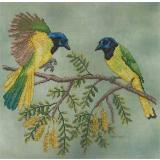 Green Jays - Stickvorlage Crossed Wing Collection