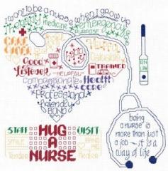 Lets Hug A Nurse - Stickvorlage Imaginating