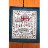 Esther Iddison 1834 Sampler - Stickvorlage Chessie & Me